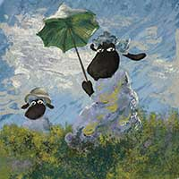 Baad Woman With Parasol